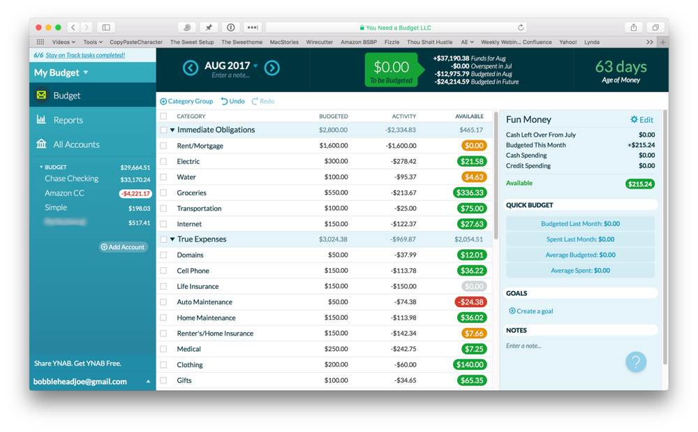 "YNAB — which stands for ""You Need a Budget"" — has grown to become one of the most popular budgeting software packages available. If you're looking for an efficient budgeting system, then YNAB may be the app you've been looking for."