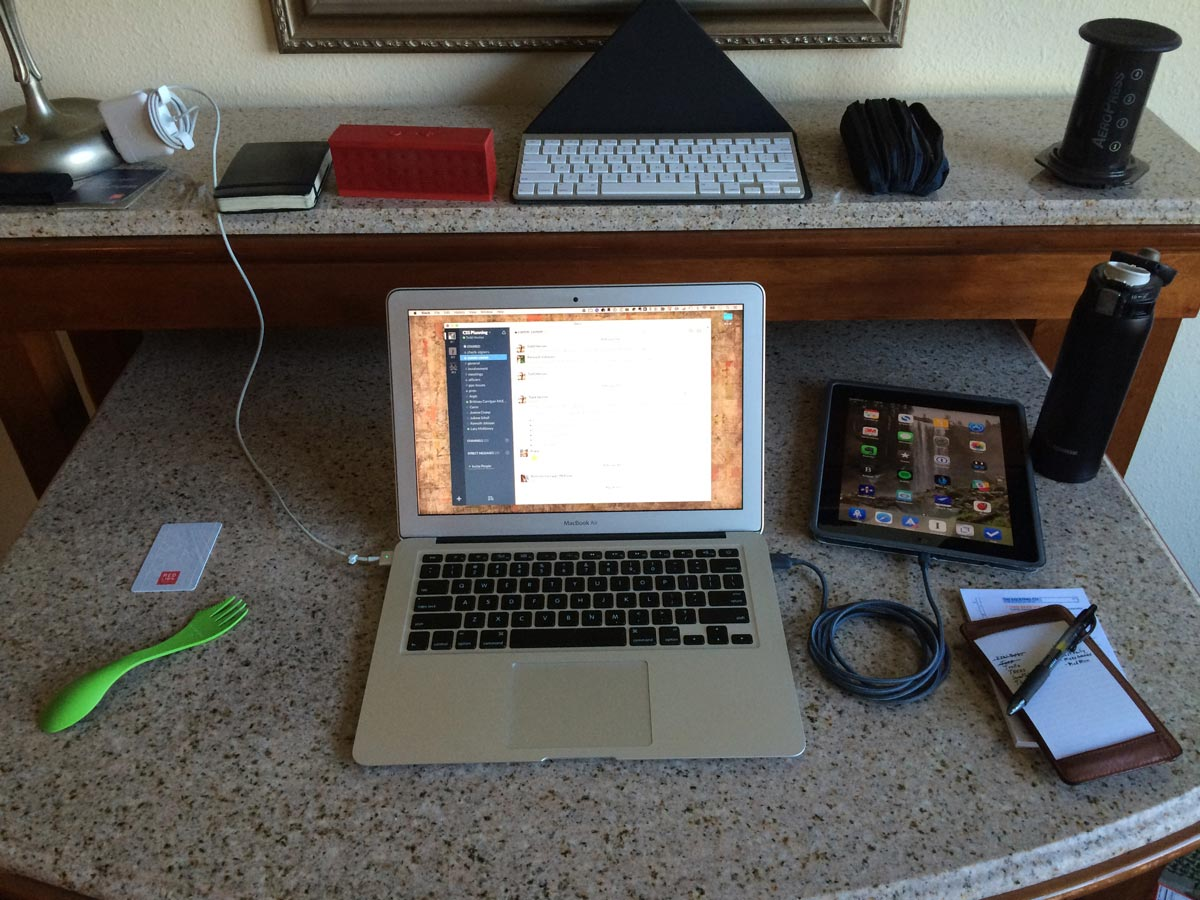 Todd Henion's mobile MacBook Air setup