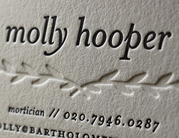 Hoban Cards produces minimal letterpress printed calling cards.