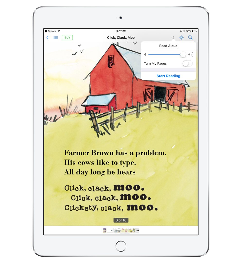 Read Aloud books in iBooks