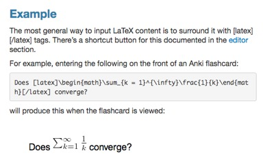 LaTeX example in Anki