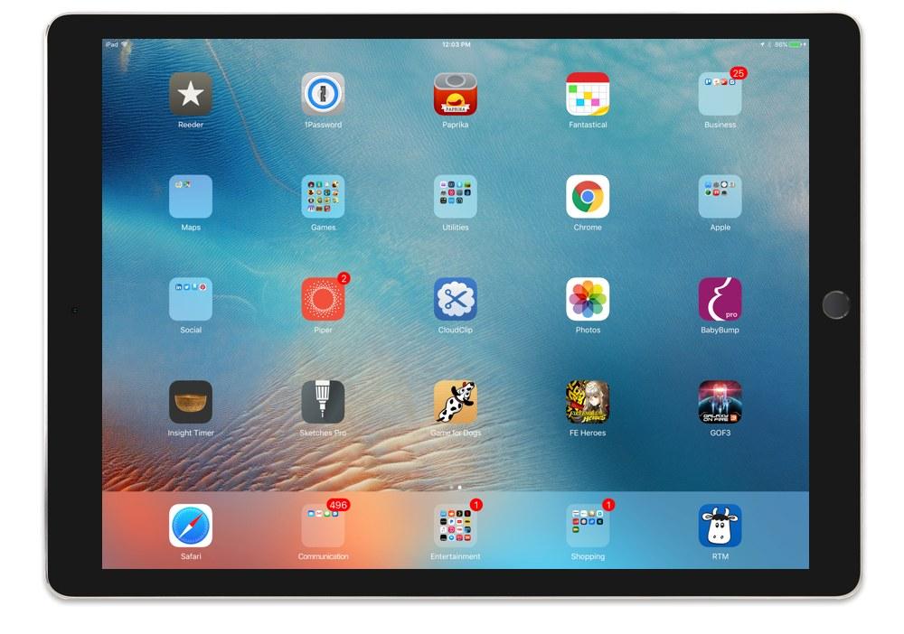 David Koonce's iPad Pro