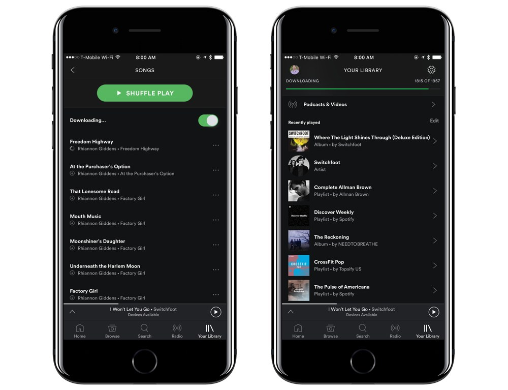 download spotify songs without premium iphone