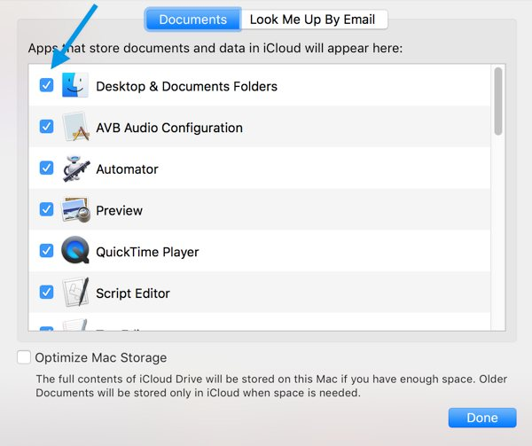how to turn off icloud for documents