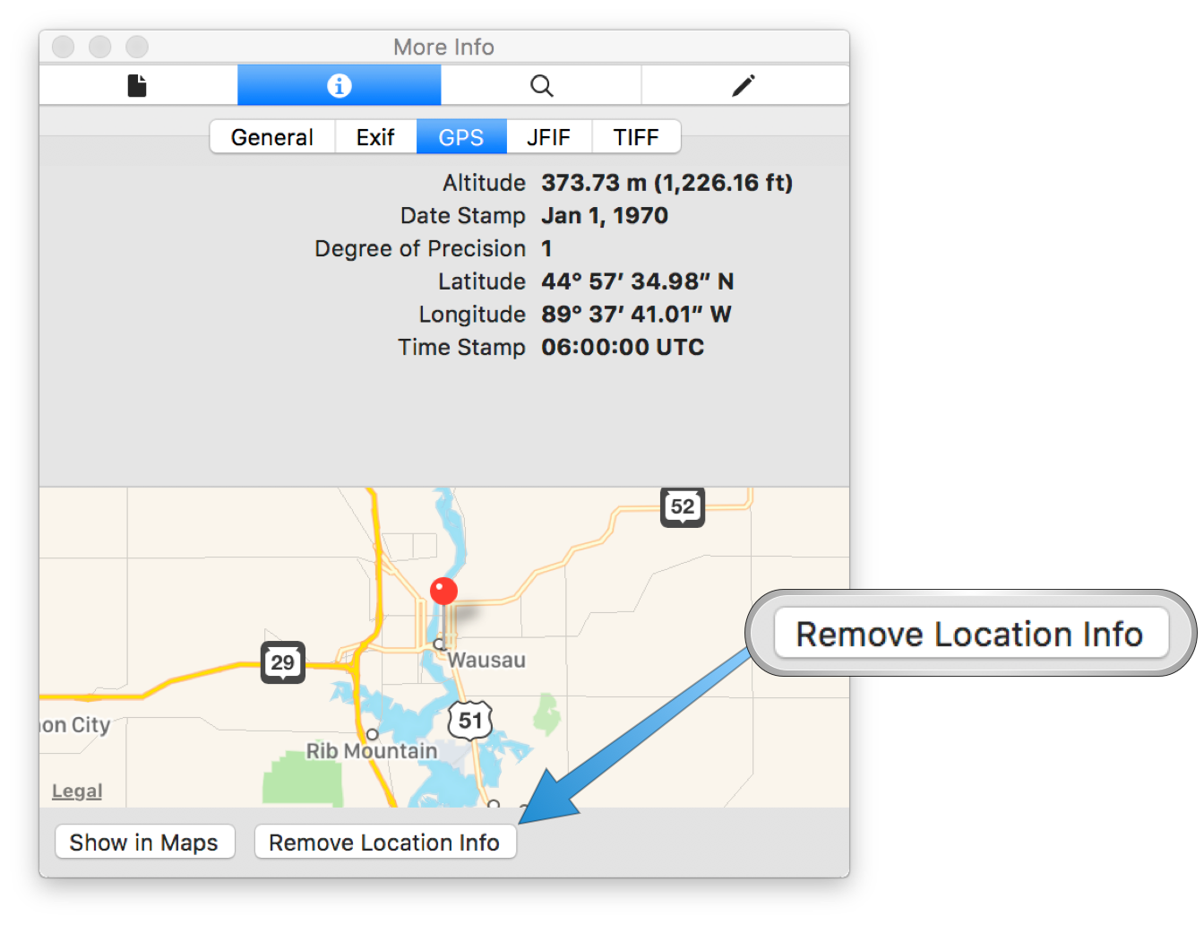 How to remove GPS information from photos on macOS or iOS