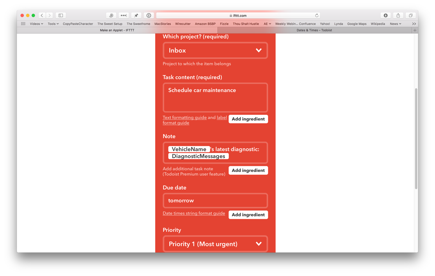 How to add tasks to Todoist using IFTTT and Zapier – The