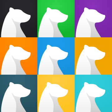 Bear's custom home screen icons