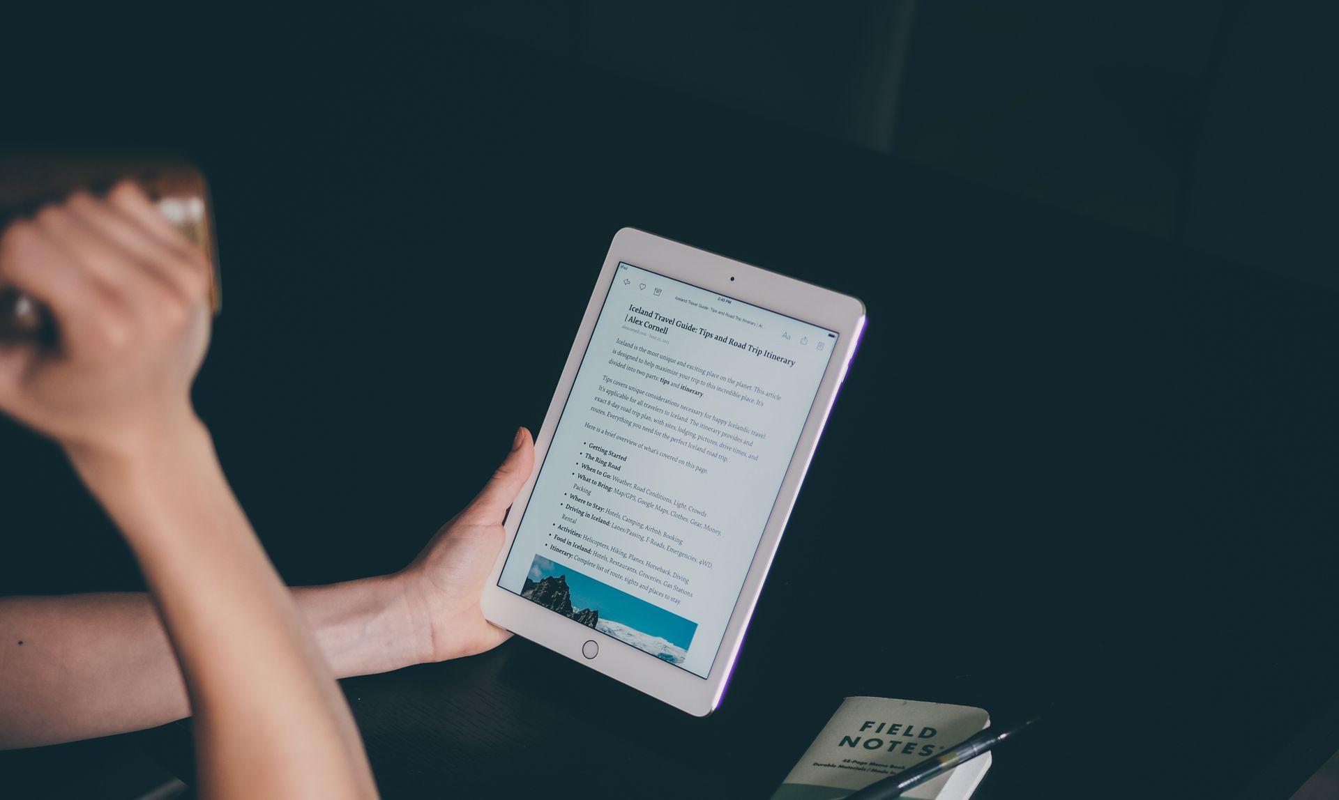 reading in Instapaper