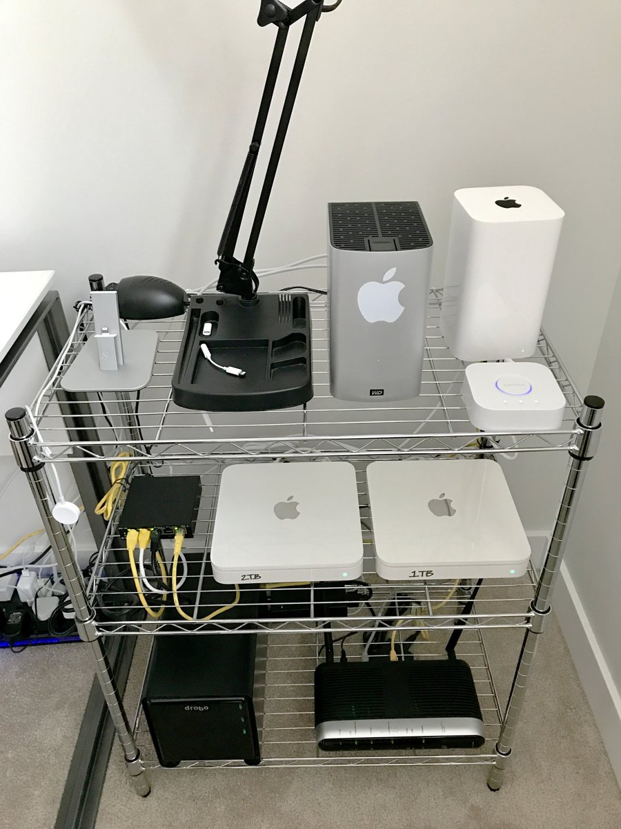 Dan Johnson's network and storage rack