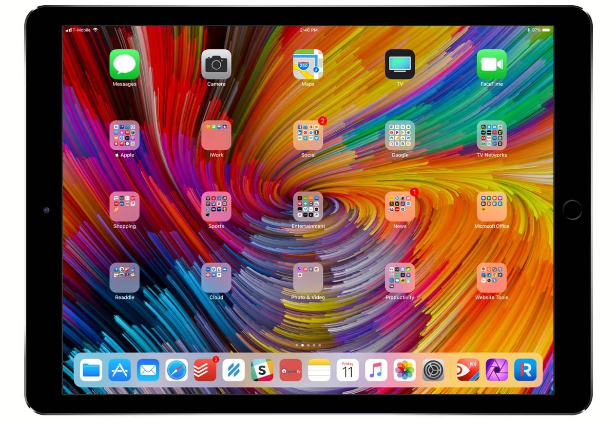 Aaron Bielert's iPad Pro