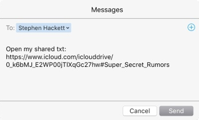 how to use icloud drive to share files