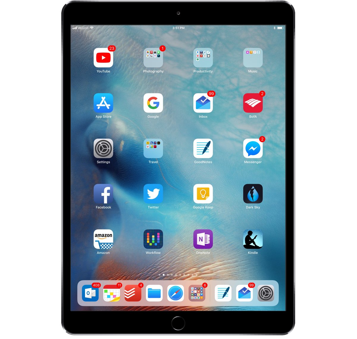 Joan Erwin's iPad setup