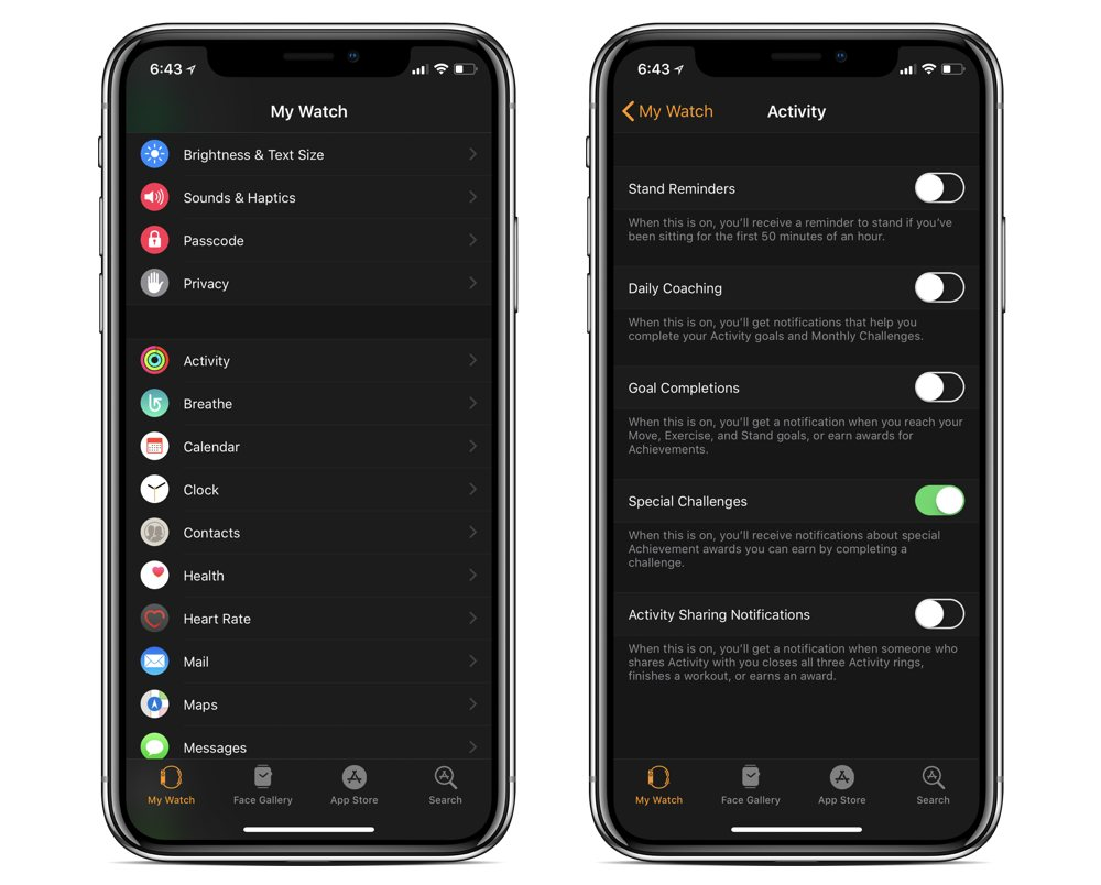 How to disable Activity app notifications on your Watch