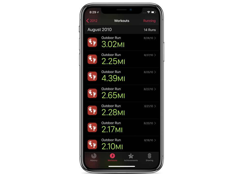 How to import past workouts into the Apple Health and Activity apps
