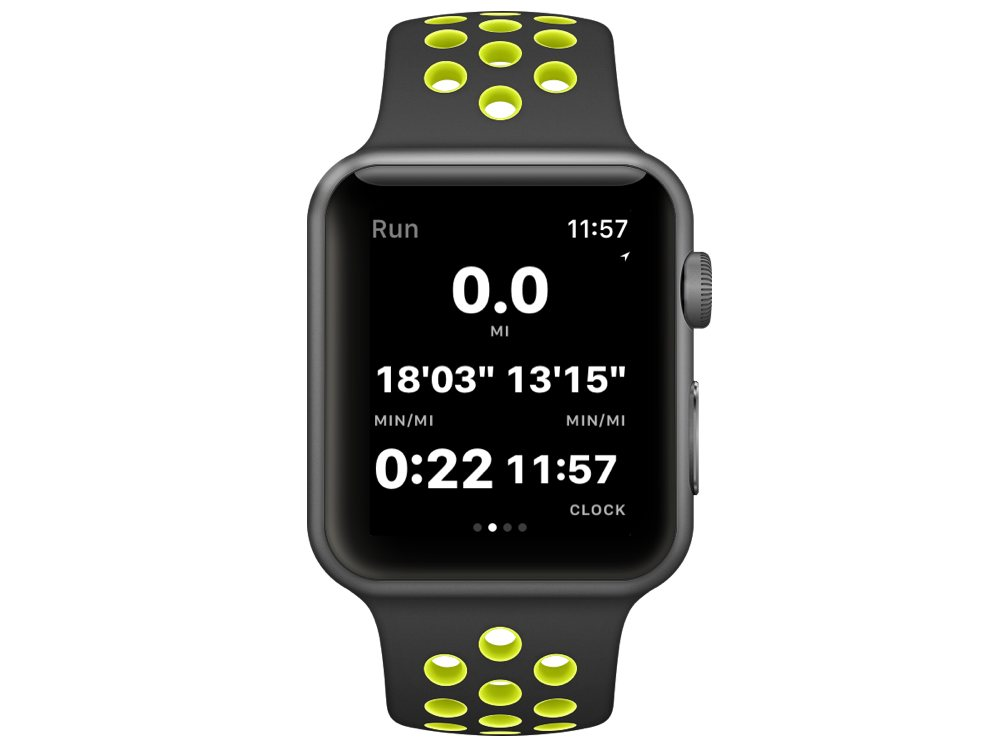 Workouts++ Watch screen