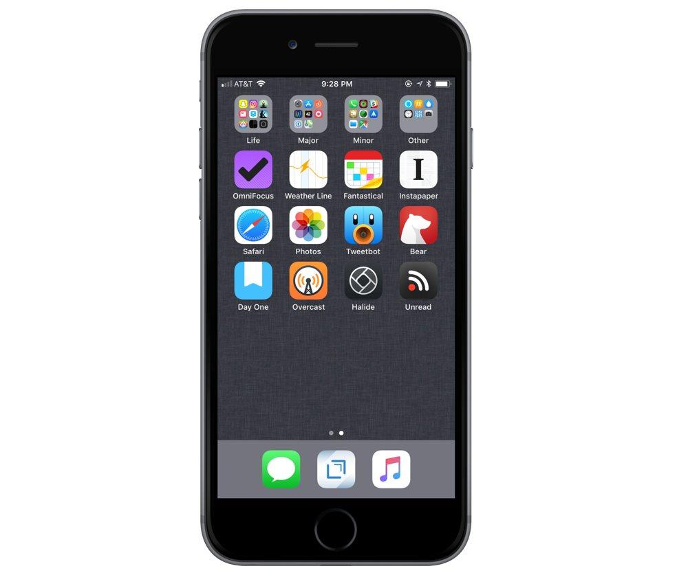 Justin Hamilton's iPhone