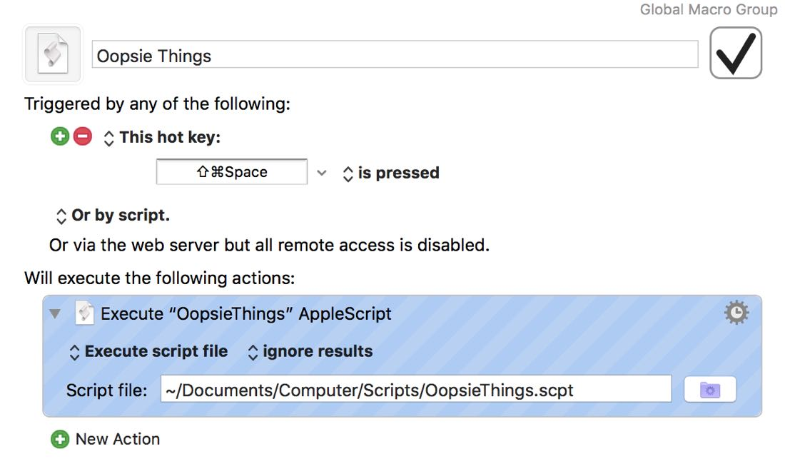 OopsieThings: My Most-Used AppleScript for Things on Mac – The Sweet