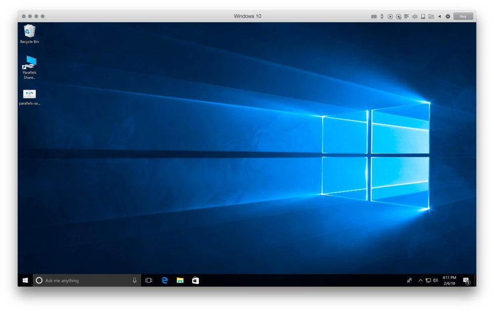 Parallels Windows 10