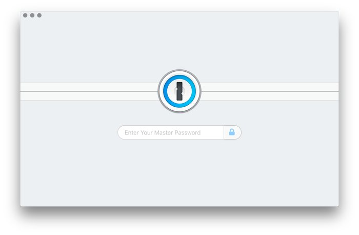 1Password lock screen