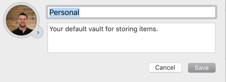 1Password vault edit