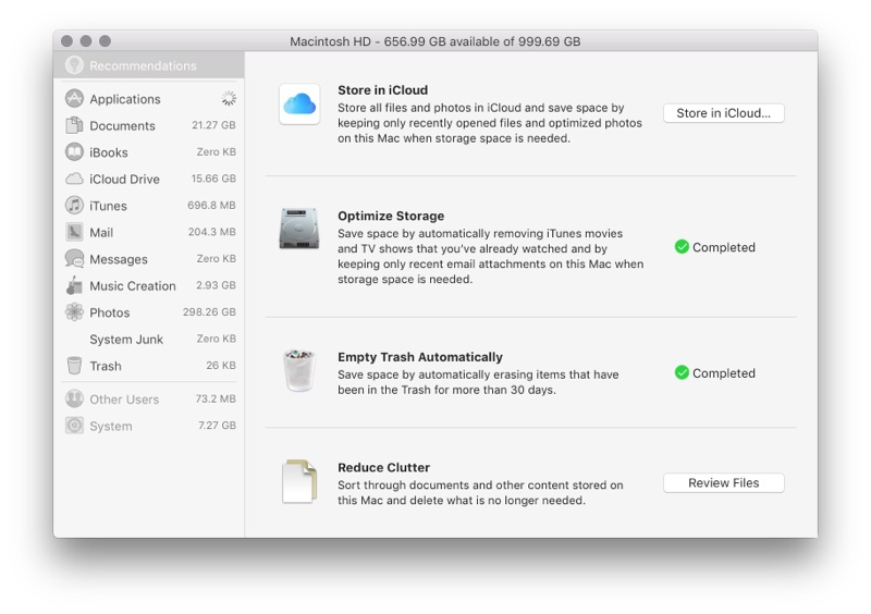 How to free up system storage in macOS High Sierra – The