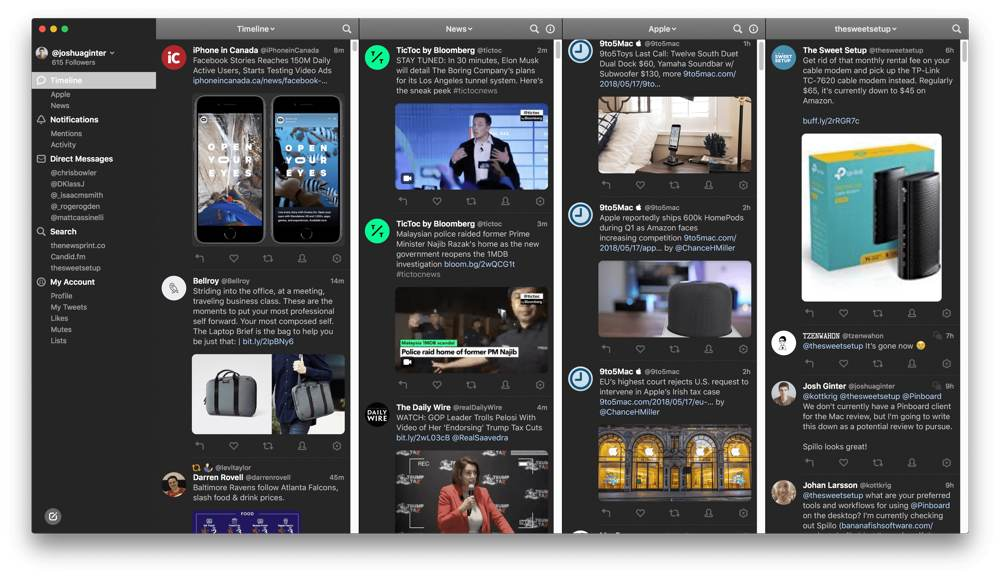 Tweetbot 3 launches with design updates, expandable sidebar