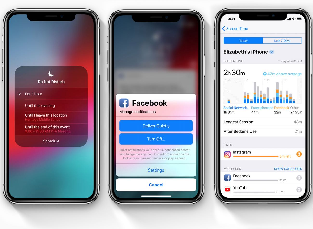 iOS 12 Do Not Disturb, Notifications, and Screen Time