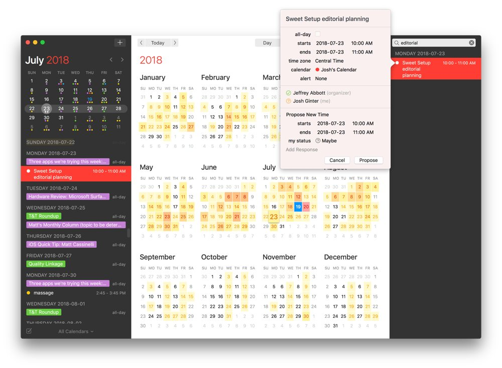 Fantastical 2 5 for Mac introduces Meetup com support, time change