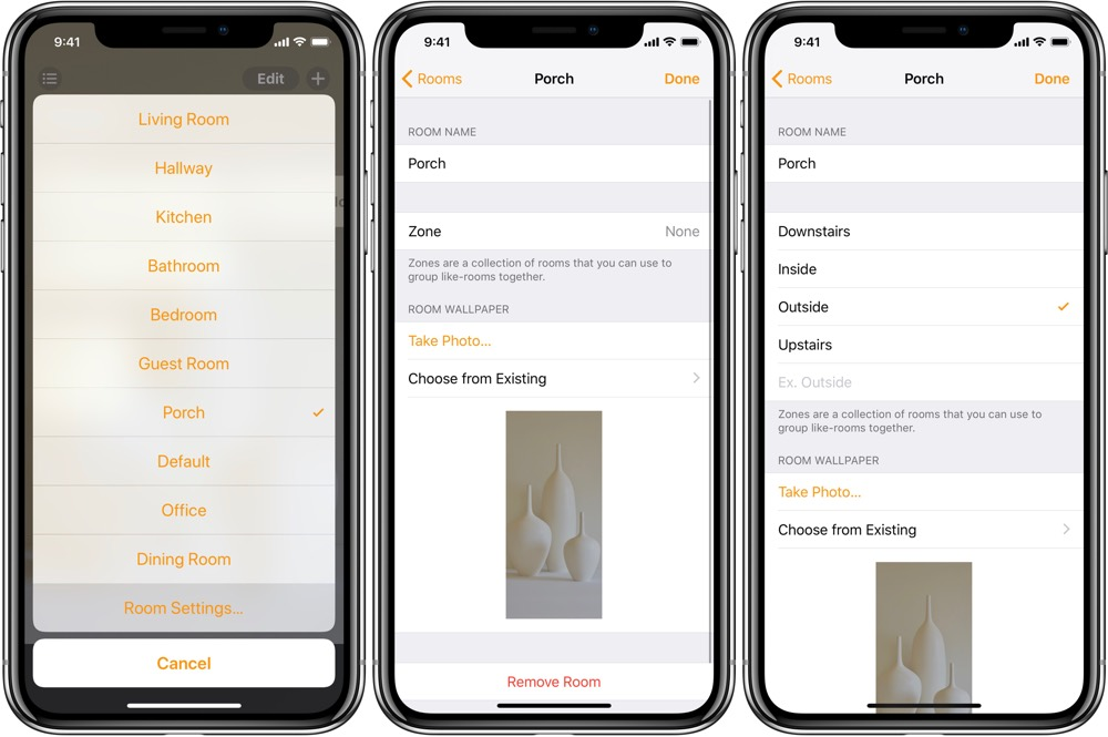 Grouping by Zones in the Home app