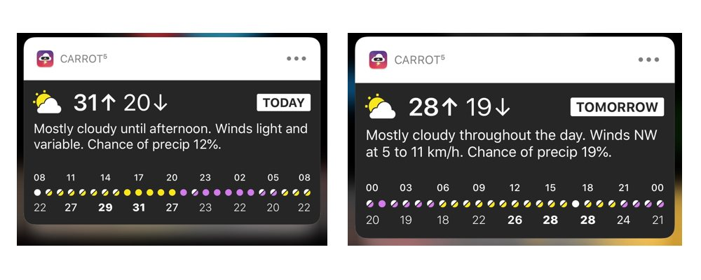 Carrot Detailed Day Notifications