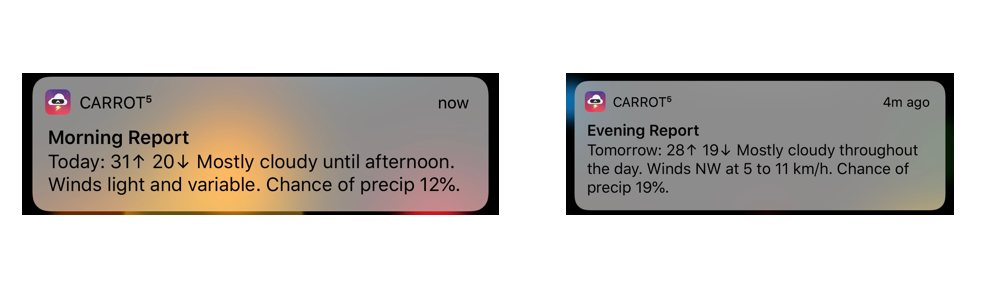 Carrot Day Notifications
