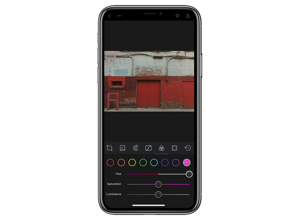 Editing specific colours in Darkroom