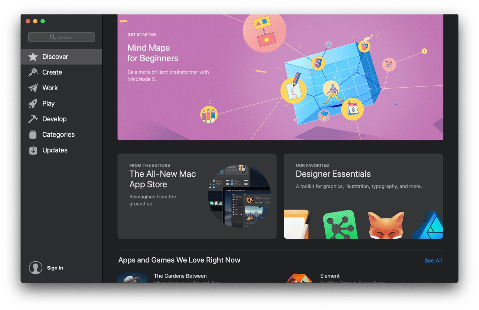 A First Look at the New Mac App Store in macOS Mojave
