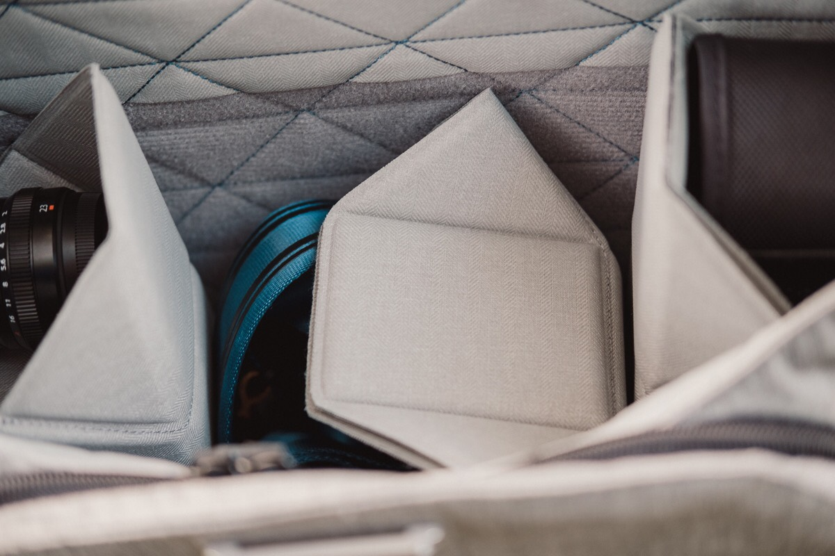 A Review Of The Peak Design Everyday Messenger Camera Bag Shell Large Flexfold Dividers Are Effectively Origami You Can Insert With Hook And Loop Fasteners Wherever Inside Fold