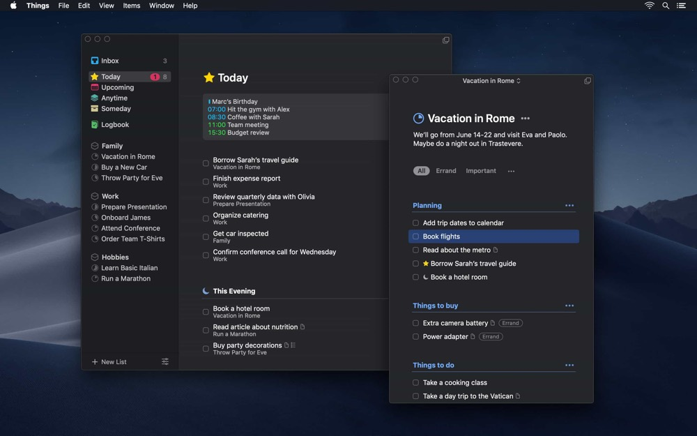 Things 3 7 for macOS Mojave Introduces Dark Mode – The Sweet