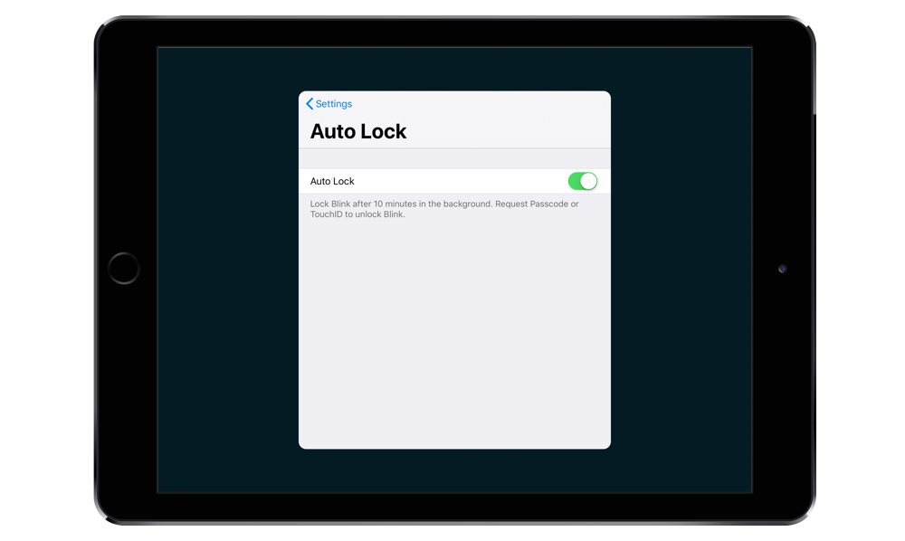 Auto Lock in Blink Shell