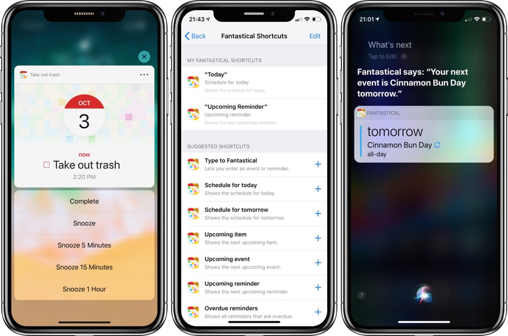 Fantastical 2 10 Introduces Siri Shortcuts and Apple Watch
