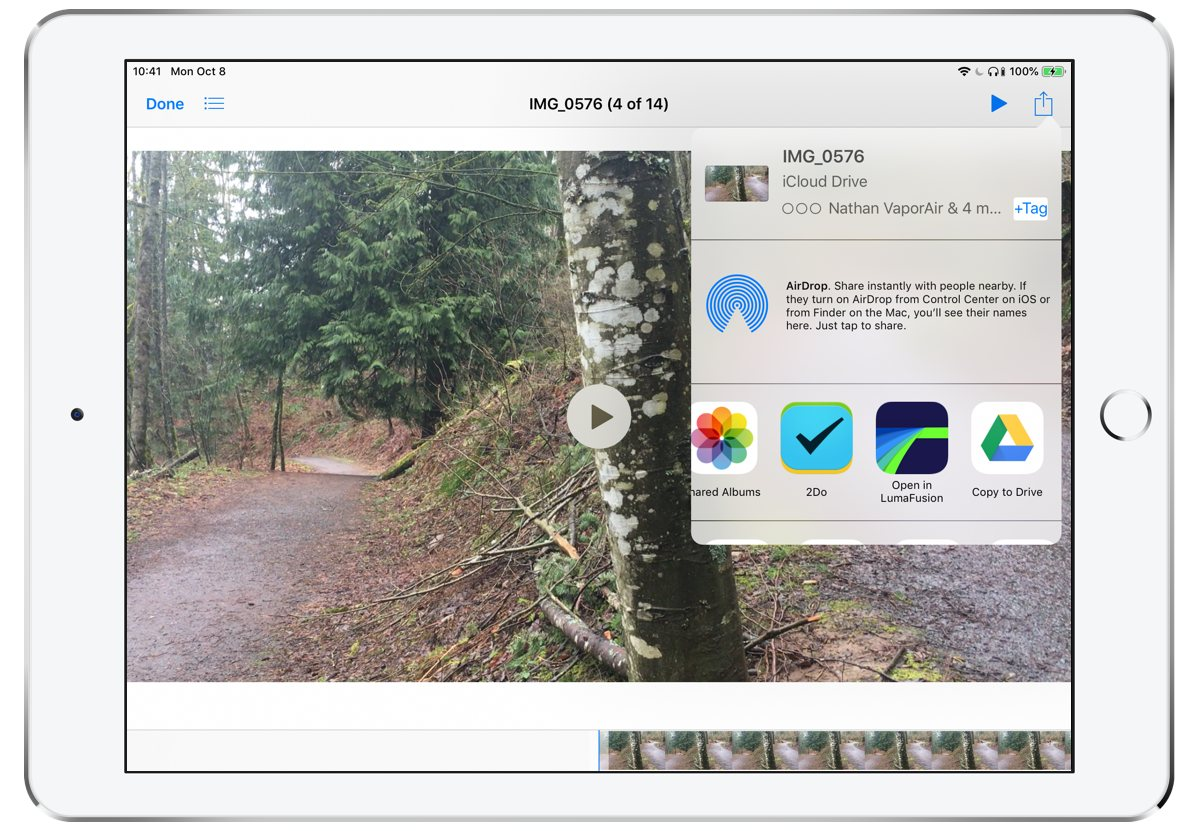Using an iPad with LumaFusion to Edit and Publish Videos