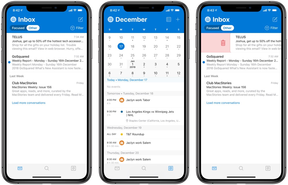 Outlook for iOS Gains New Design and Improved Haptic Feedback – The