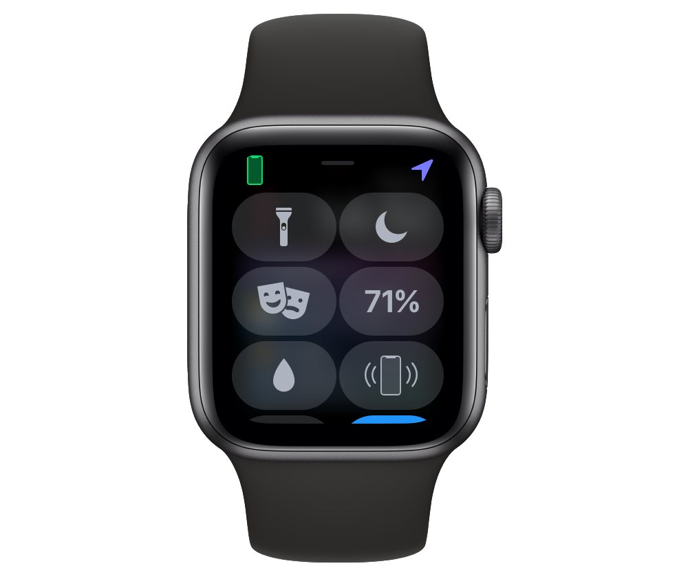 Apple Watch Control Center customization