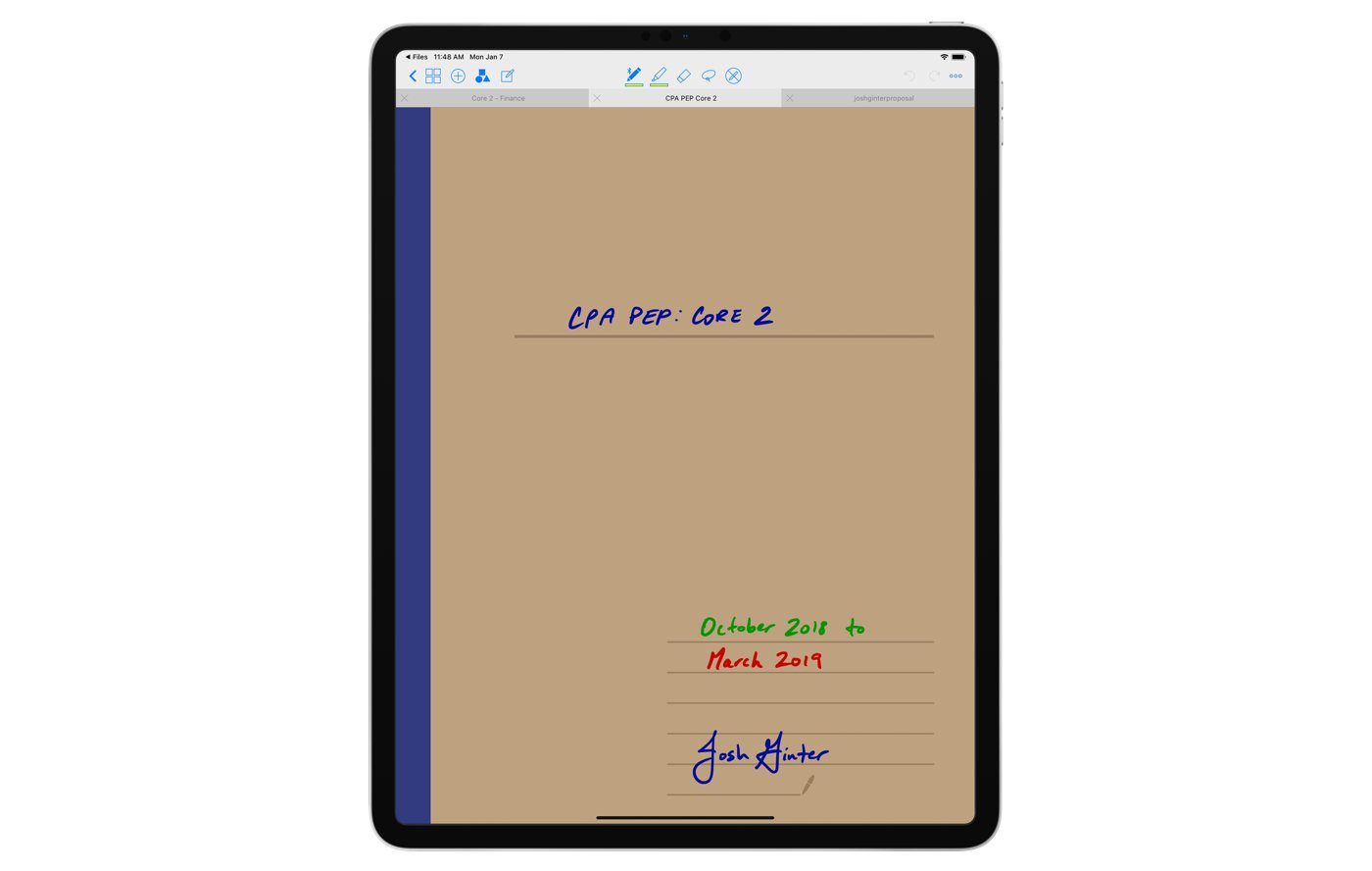 GoodNotes example of notebook cover