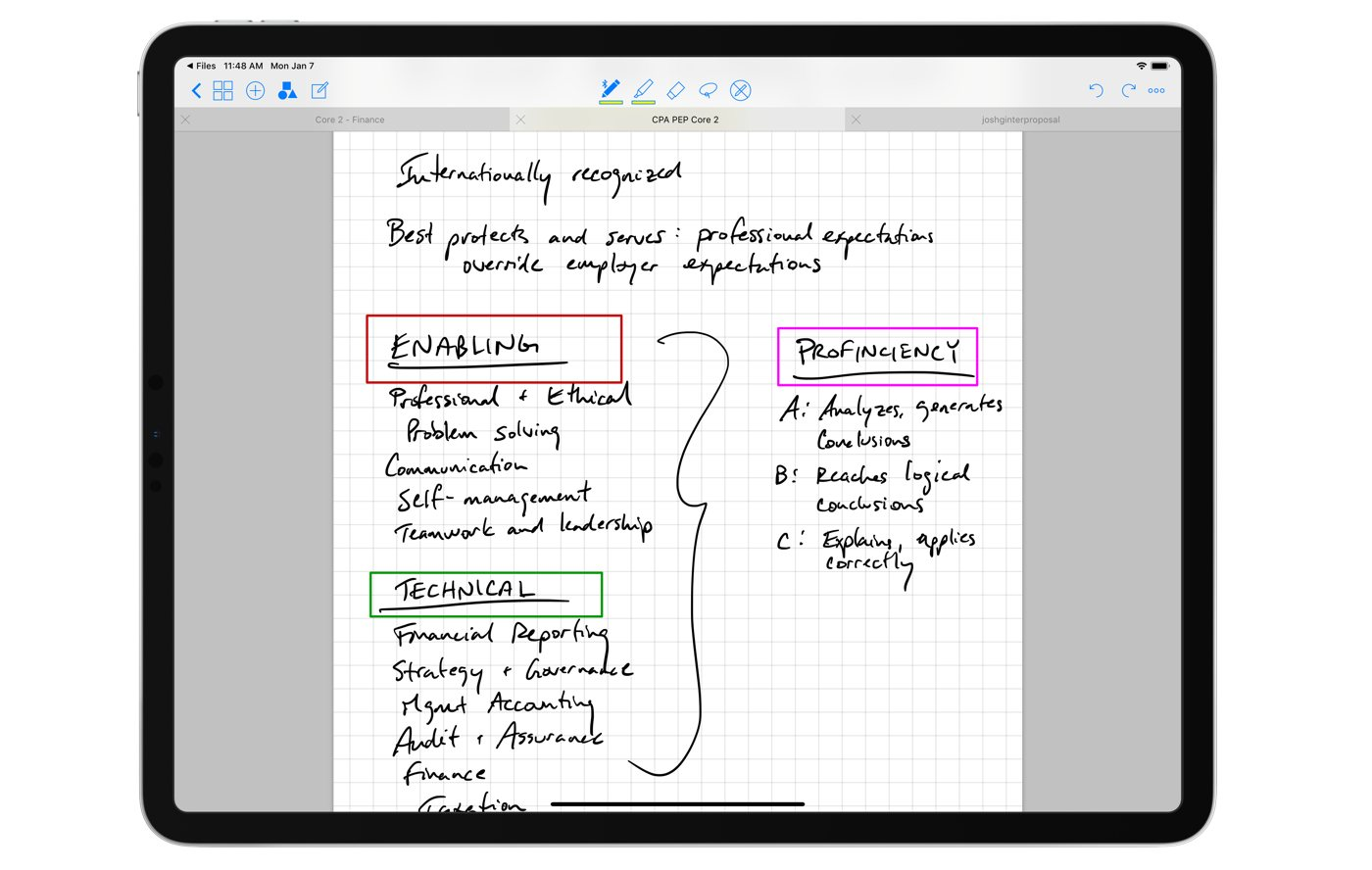 GoodNotes main note-taking view