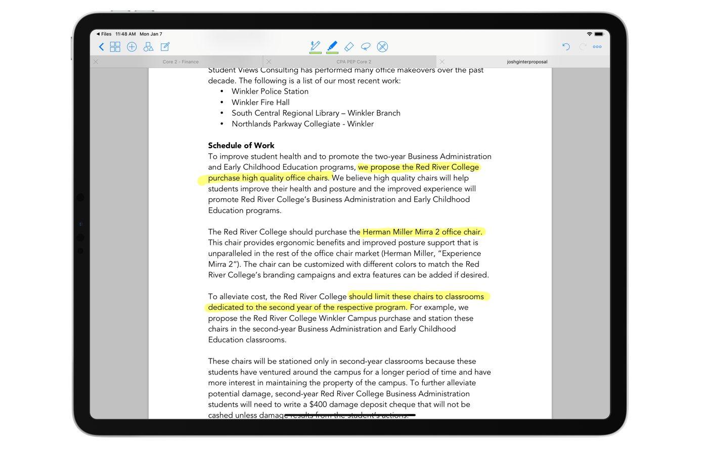 GoodNotes highlighting