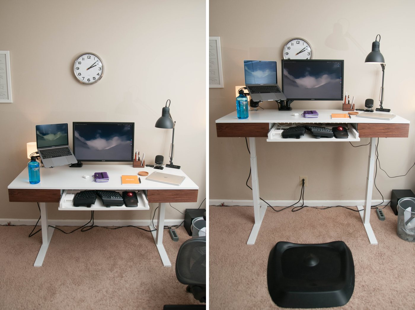 Jeffrey Abbott desk, sit stand