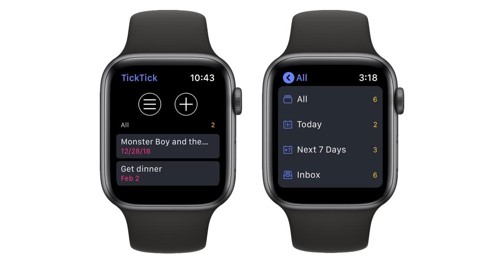 TickTick Apple Watch app