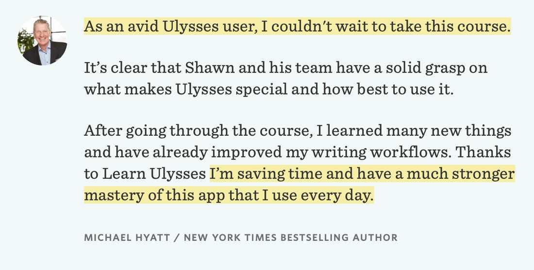 Michael Hyatt Learn Ulysses