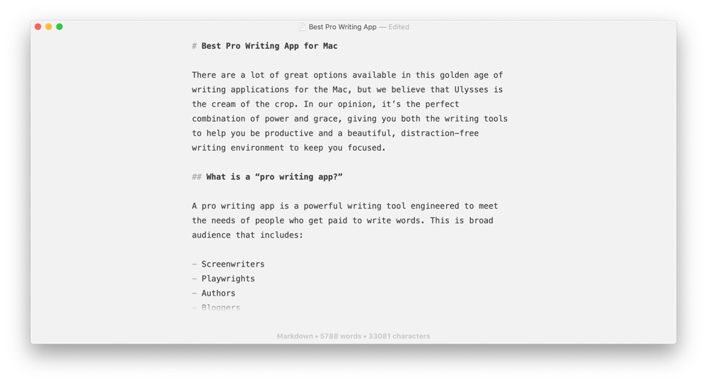 The Best Writing App for Mac, iPad, and iPhone — The Sweet Setup