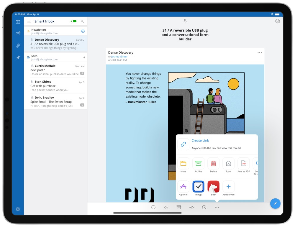 Spark's Latest Updates Have Me Ditching Microsoft Outlook for Greener Pastures