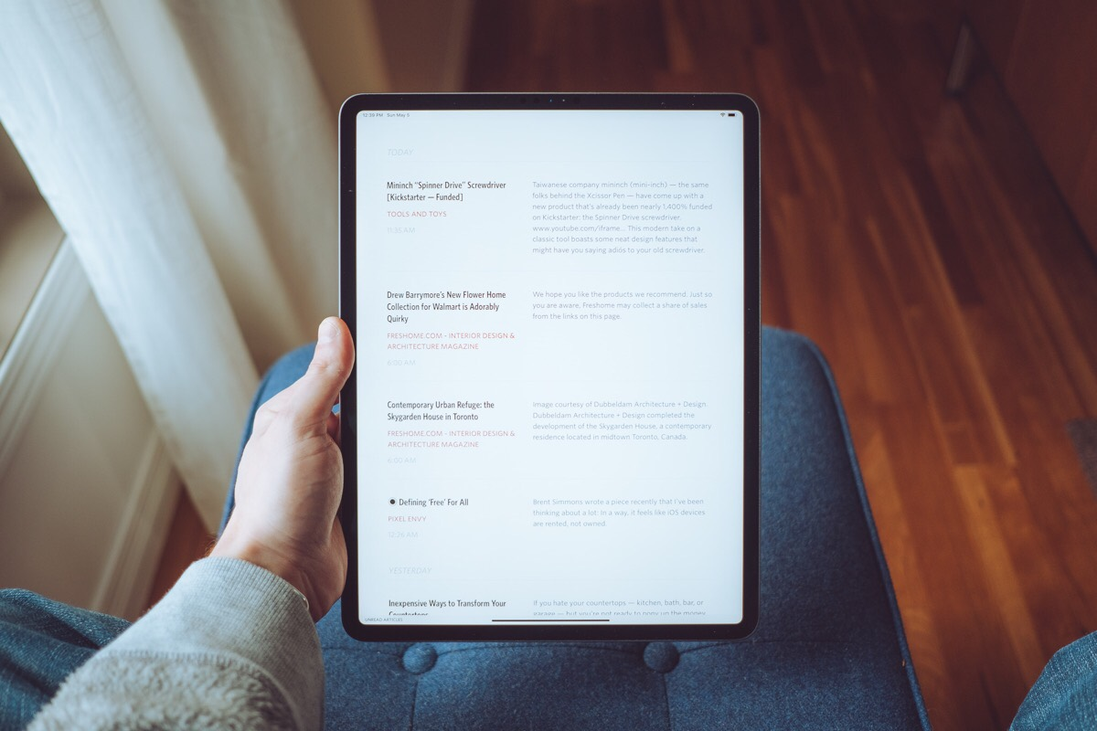 The best RSS app for the iPad