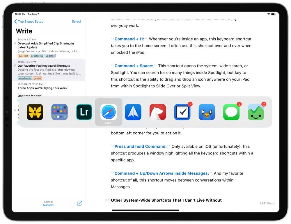 iPad Keyboard Shortcuts
